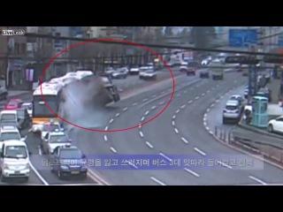 ДТП - Авария Китай. Скания без тормозов