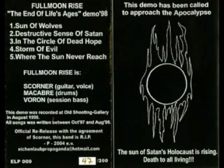 Fullmoon Rise - Storm of Evil (1998) (Underground Black Metal Russia)
