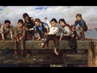 Девчонки и мальчишки в живописи Джона Броуна