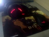 steelseries headset, mousepad and mouse