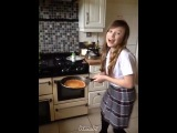 Mom said I couldnt make pancakes But Heidi showed me how ❤😊 - ConnieTalbot