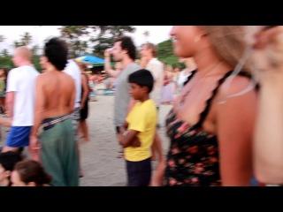 Пляж Арамболь. Барабаны на закате. Гоа 2013