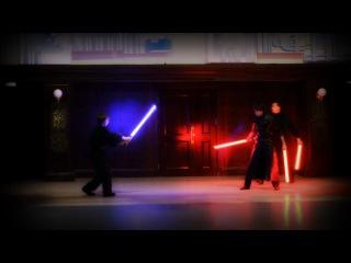 Бой на световых мечах.  Арт-группа «Night Light»