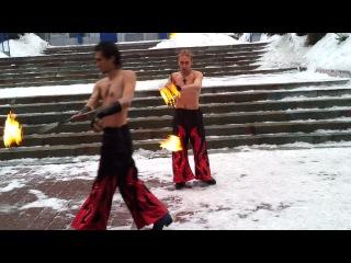 Огненное шоу от Бургер Кинг в Казахстане