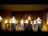 День первака. Я и моя группа справа, слева физруки) Все танцуют, хорошо, что не поют))))))