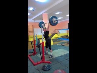 Коношевич Денис.толчок со стоек 165 кг.
