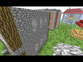 Строим красивый дом в minecraft из дерева и камня. 1 часть.