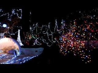 Светомузыка в рождественском городке =)