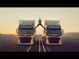 Великолепный Жан Клод и в 50-т лет не теряет форму ! Невероятный и опасный трюк для рекламного ролика Volvo !