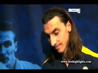 Zlatan Ibrahimović Interview 14-11-2012 (Sweden 4-2 England) Show 4 Goals ALJazeera