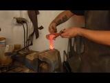 Ковка ножа из жд костыля