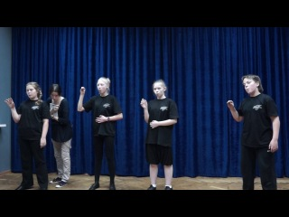 Открытый урок по сценической речи, часть третья.