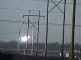 Возникновение электрического разряда, дуги на воздушной ЛЭП — 138 кВ