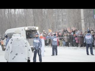 Передача эстафеты олимпийского огня г.Воронеж ост.Остужева северный мост