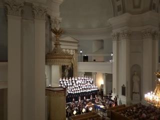 Кафедральный собор в г.Хельсинки (Cantores Minores,J.S.Bach,Jouluoratorio IV-V)