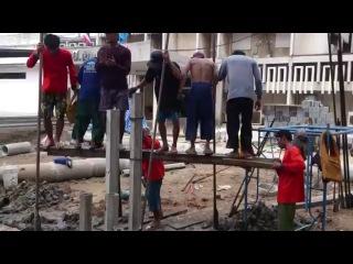 Как забивают сваи в Тайланде