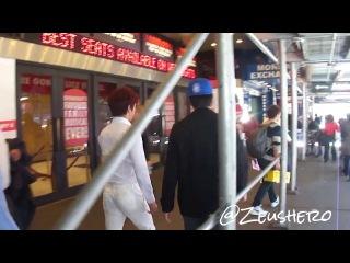 [FANCAM][131118] Infinite leaving hotel for Billboard studios
