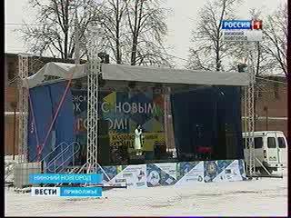 На площади Минина и Пожарского открылся Рождественский городок
