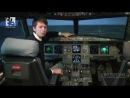 Cross wind take-off and landing on a Airbus A320. Baltic Aviation Academy