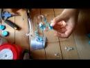 Мастер класс Как сделать цветок Канзаши с круглыми двухцветными лепестками