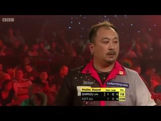 Hiroaki Shimizu vs Christian Kist (BDO World Darts Championship 2014 / Preliminary Round)