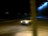 БМВ Е30 М40Б18 Турбо 0.4 бара на летней лысой резине по снегу)