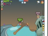 Вормикс: Я vs Руся (9 уровень)Динамит+Арбалет+Экстренный телепорт+Электрошокер+Пригающая граната