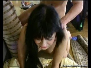 Two drunken friends have sex in bedroom