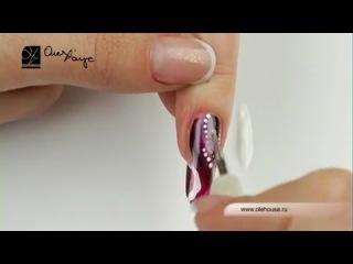 Маникюр.Дизайн ногтей. Жемчужные нити.