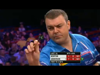 Wes Newton vs Gary Anderson (World Grand Prix 2013 / Round 2)