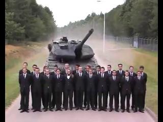 Экстренное торможение Танка Leopard (6 sec)
