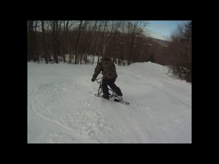 #Сноубайк #snowbike #зимнийвелосипед #сноускут #snowscoot #skibike #snow #snowbmx #smx #samara #самара #лыжесипед #skibob #mtb #bmx #snowmtb