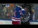 Крутая драка хоккеистов в НХЛ -Anthony Peluso vs. Justin Falk