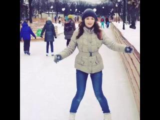 Катаюсь на коньках в Москве!
