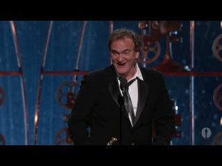 Квентин Тарантино получает Оскар за лучший оригинальный сценарий к фильму