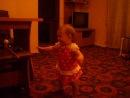 Моя крестная Доченька-Анютка ходит!