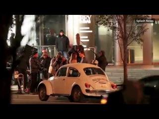 Поцелуй Кристиана и Анастейши (Дакота Джонсон и Джейми Дорнан на съёмках фильма