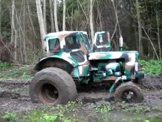 трактор т-40 на колёсах от т-150