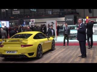 Ruf Press Conference-Alois Ruf on Rt12R,Rt35s,Rt35 Convertible,Boxter 991 engineGTR3 2013 Geneva