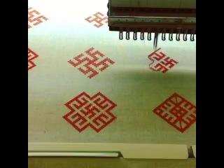 Вышивка славянских символов на компьютерной машине.