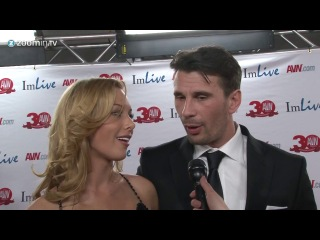 Kayden Kross & Manuel Ferrara are in love! On the AVN Red Carpet 2013.