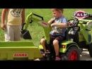 Трактор-экскаватор педальный с прицепом и ковшом Falk