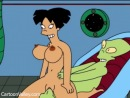 Leela and Amy in hardcore sex orgy with their friends, all caught on video! - CartoonValley cartoon porn