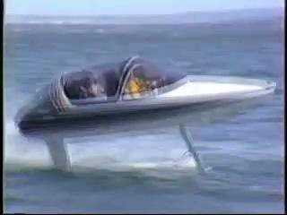 Скоростной водометный катер на подводных крыльях