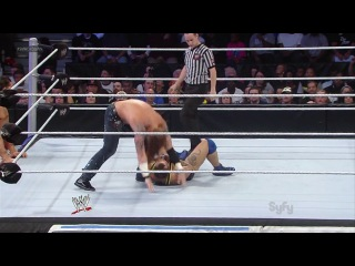 Heath Slater (w/Drew McIntyre & Jinder Mahal) vs. Santino Marella (w/Hornswoggle & The Great Khali)
