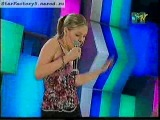Фрагмент выступления Аксиньи Вержак с песней