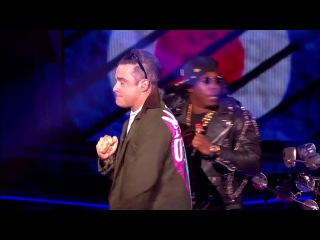 Dizzee Rascal and Robbie Williams - Goin' Crazy (Live on The Voice UK 2013)