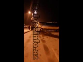 Azərbaycanda yollar buz bağladı 10 maşın toqquşdu