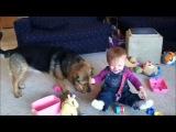 Малыши и животные - это всегда весело!