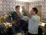 Александр Шломан и Игорь Шипков в кафе София на Тамбовской 7 Санкт-Петербург 31 марта 2013 года.